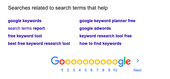Google Search Terms